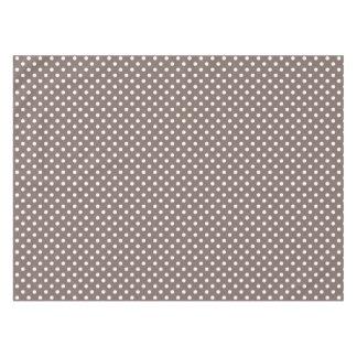 Brown Polka Dots Tablecloth