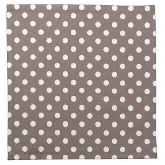 Brown Polka Dots Cloth Napkin