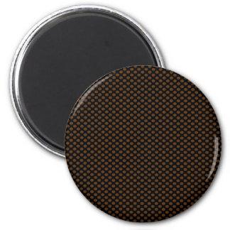Brown Polka Dots on Black Magnet