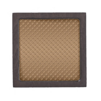 Brown polka dots on brown background premium gift boxes