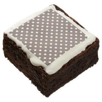 Brown Polka Dots Square Brownie