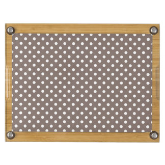 Brown Polka Dots Rectangular Cheese Board