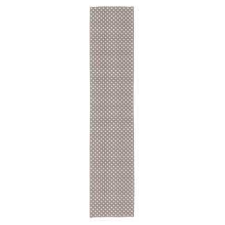 Brown Polka Dots Short Table Runner