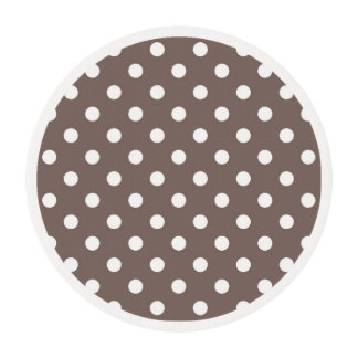 Brown Polka Dots Edible Frosting Rounds