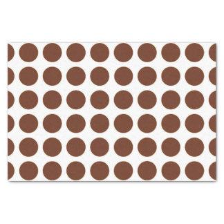"Brown Polka Dots Tissue Paper 10"" X 15"" Tissue Paper"