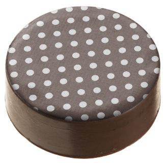 Brown Polka Dots Chocolate Dipped Oreo