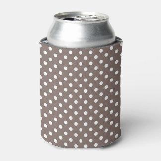 Brown Polka Dots Can Cooler