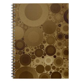 Brown Polkadot Spiral Notebooks