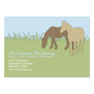 Brown Ponies Pet Sitting Business Card