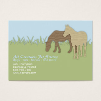 Brown Ponies Pet Sitting Business Card