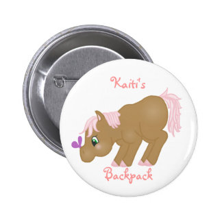Brown Pony Button
