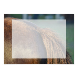 Brown pony hindquarters and tail invitations