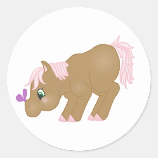 Brown Pony Sticker