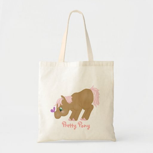 Brown Pony Tote Bags
