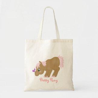 Brown Pony Tote Budget Tote Bag