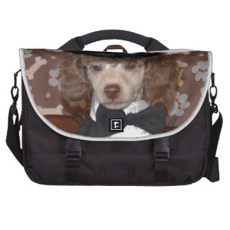 Brown Poodle Puppy in Suit Commuter Bag