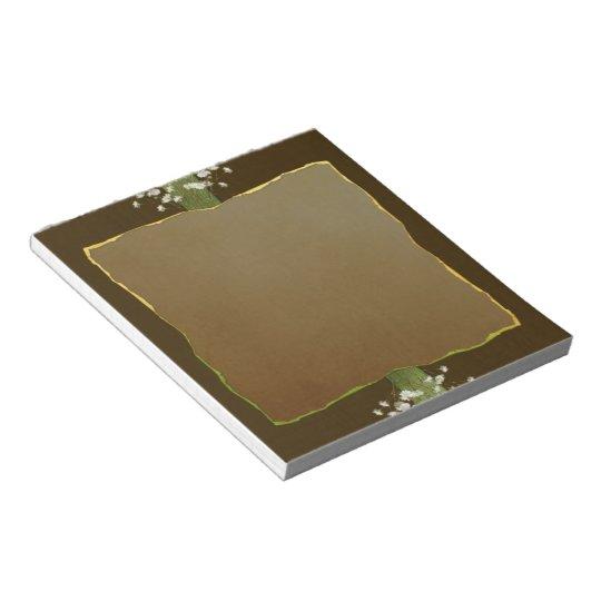 Brown Posies Notepad