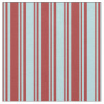 [ Thumbnail: Brown & Powder Blue Colored Pattern of Stripes Fabric ]