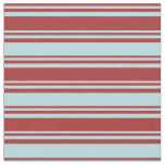 [ Thumbnail: Brown & Powder Blue Striped/Lined Pattern Fabric ]