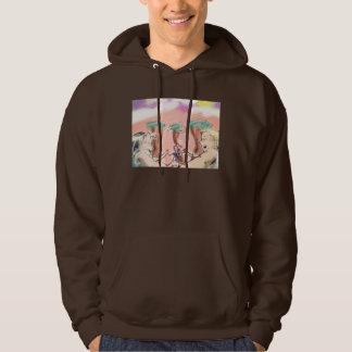 brown pretty neighborhood hoodie