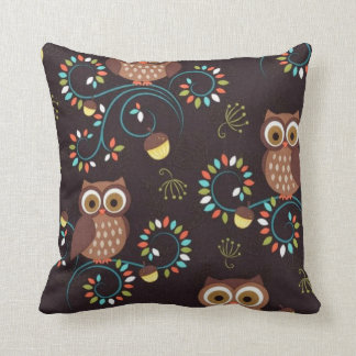 Primitive Throw Pillows For Couch : Brown primitive owl pillows