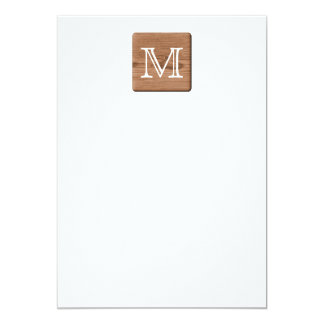Brown Printed Pattern and Custom Letter. Invitations