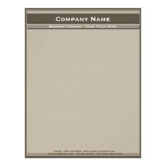Brown Professional Modern Plain Simple Letterhead