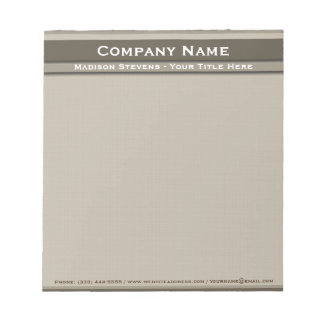 Brown Professional Modern Plain Simple Notepad
