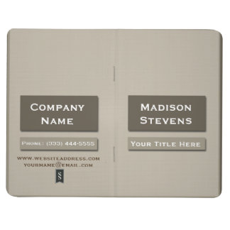 Brown Professional Plain Simple Pocket Journal