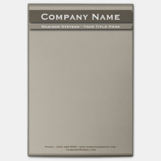 Brown Professional Plain Simple Post-it® Notes