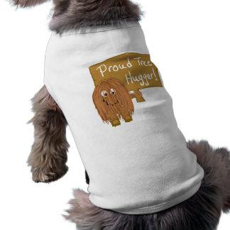 Brown Proud Tree Hugger Pet Tshirt