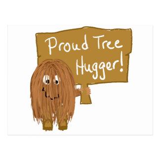 Brown Proud Tree Hugger Postcard