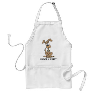 brown puppy/adopt a mutt adult apron