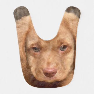 Brown Puppy Baby Ribs Baby Bib