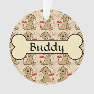 Brown Puppy Dog Graphic Add Photo Personalize Ornament