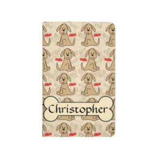 Brown Puppy Dog Graphic Design Personalize Journal