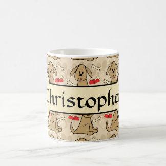 Brown Puppy Dog Graphic Design Personalize Classic White Coffee Mug