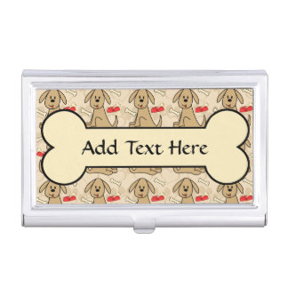 Brown Puppy Dog Graphic Design Personalize Case For Business Cards