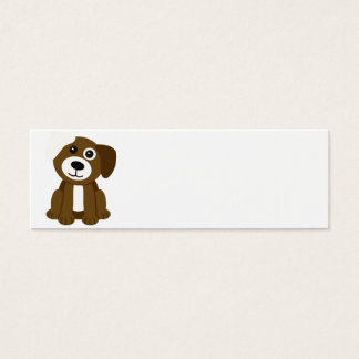 Brown Puppy Mini Business Card