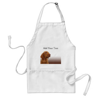 Brown Puppy on a Brown Gradient Adult Apron