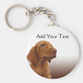 Brown Puppy on a Brown Gradient Keychains