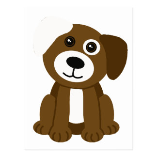 Brown Puppy Postcard