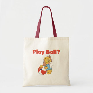 Brown Puppy With Ball Tote Bag