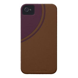 Brown purple circle Case-Mate iPhone 4 case