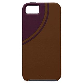 Brown purple circle iPhone SE/5/5s case