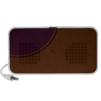 Brown purple circle laptop speaker