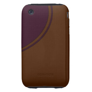 Brown purple circle tough iPhone 3 cover