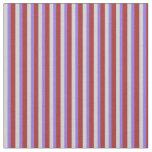 [ Thumbnail: Brown, Purple & Light Grey Pattern of Stripes Fabric ]