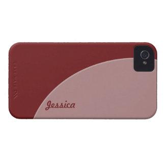 Brown Purple mod Color circle iPhone 4 Case