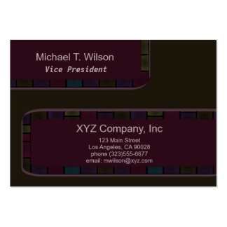 Brown Purple tile Border Business Card Template
